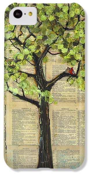Cardinals In A Tree IPhone 5c Case by Blenda Studio