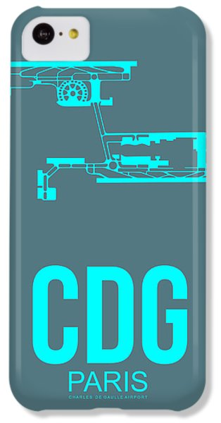 Cdg Paris Airport Poster 1 IPhone 5c Case by Naxart Studio