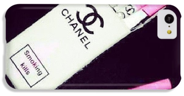 Chanel iPhone 5C Cases - #chanel #cigs iPhone 5C Case by Amanda Pearson