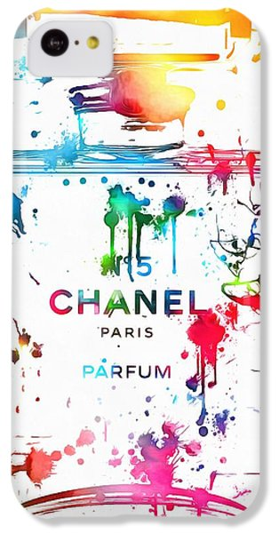 Chanel Number Five Paint Splatter IPhone 5c Case by Dan Sproul