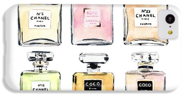 Chanel Perfumes IPhone 5c Case by Laura Row Studio