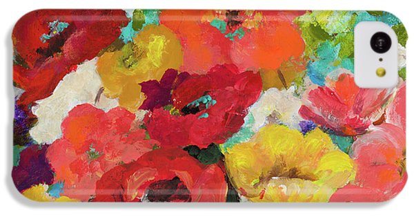 Cheerful Flowers II IPhone 5c Case by Patricia Pinto