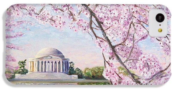 Jefferson Memorial Cherry Blossoms IPhone 5c Case by Patty Kay Hall