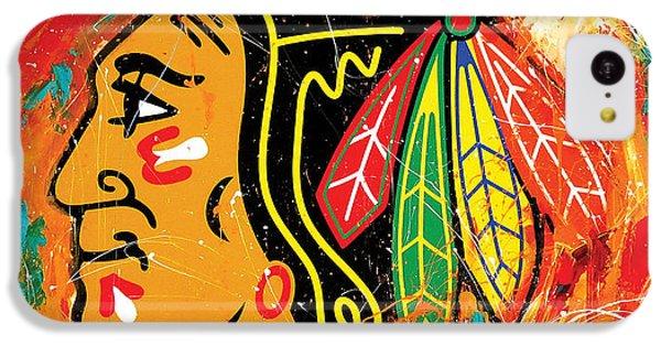 Chicago Blackhawks Logo IPhone 5c Case by Elliott From
