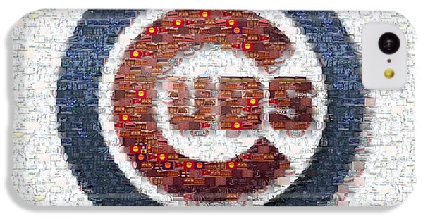 Chicago Cubs Mosaic IPhone 5c Case by David Bearden