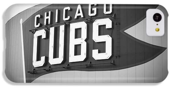 Chicago Cubs Wrigley Field Sign Black And White Picture IPhone 5c Case by Paul Velgos