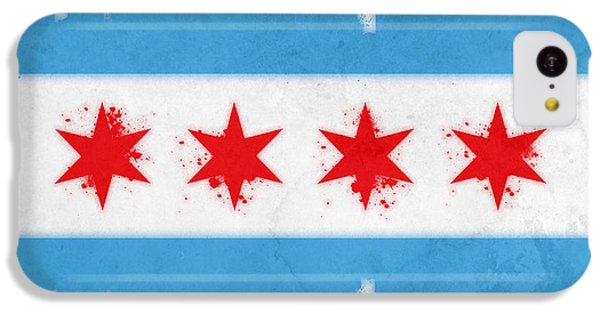 Chicago Flag IPhone 5c Case by Mike Maher