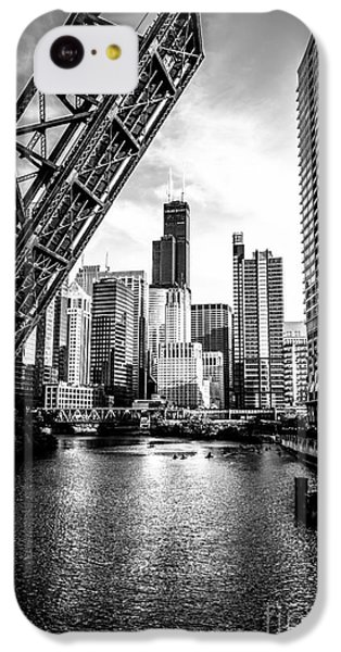 Chicago Kinzie Street Bridge Black And White Picture IPhone 5c Case by Paul Velgos