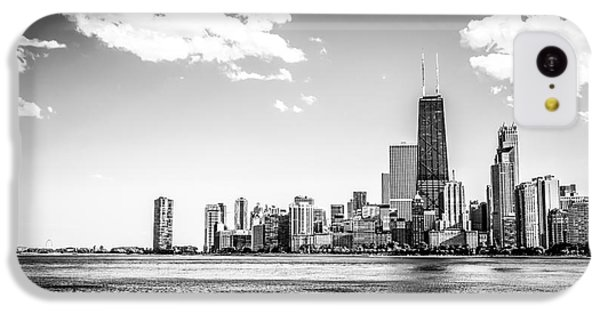 Chicago Lakefront Skyline Black And White Picture IPhone 5c Case by Paul Velgos