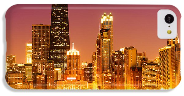Chicago Night Skyline With John Hancock Building IPhone 5c Case by Paul Velgos