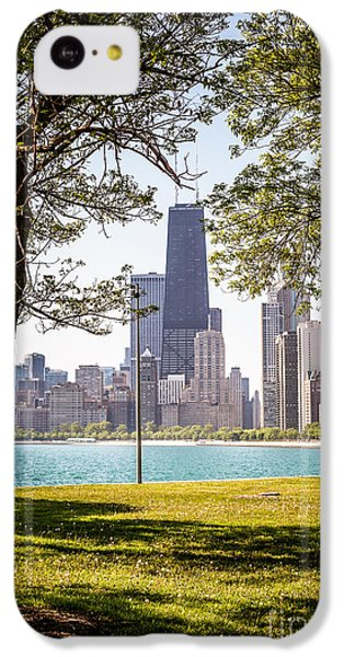 Chicago Skyline And Hancock Building Through Trees IPhone 5c Case by Paul Velgos