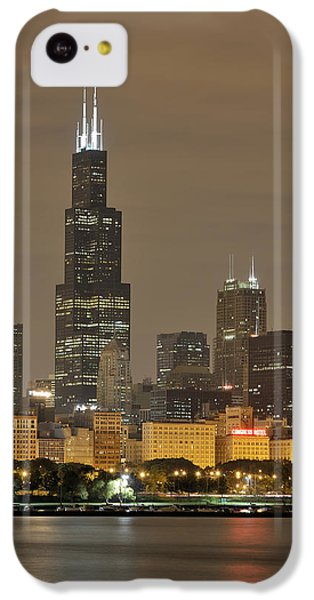Chicago Skyline At Night IPhone 5c Case by Sebastian Musial