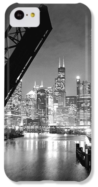 Chicago Skyline - Black And White Sears Tower IPhone 5c Case by Horsch Gallery