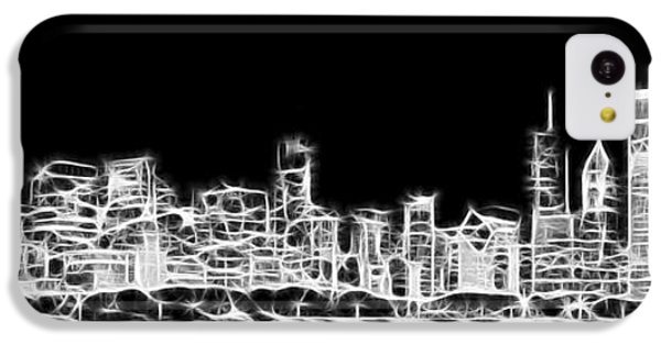 Chicago Skyline Fractal Black And White IPhone 5c Case by Adam Romanowicz