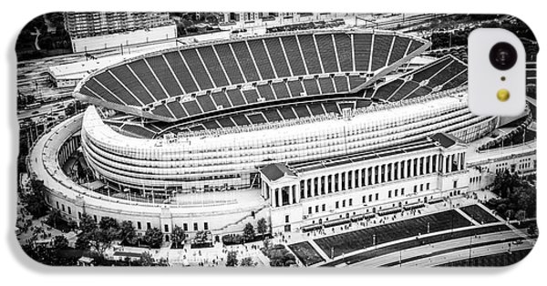 Chicago Soldier Field Aerial Picture In Black And White IPhone 5c Case by Paul Velgos