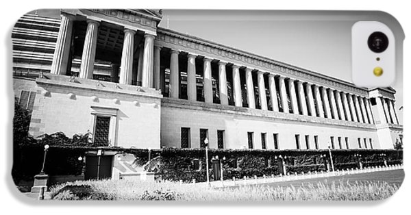 Chicago Solider Field Black And White Picture IPhone 5c Case by Paul Velgos