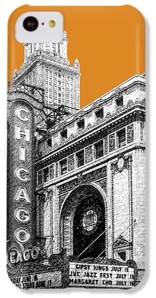 Chicago Theater - Dark Orange IPhone 5c Case by DB Artist