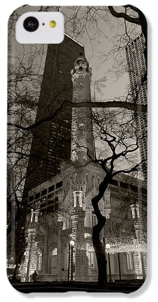 Chicago Water Tower B W IPhone 5c Case by Steve Gadomski