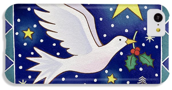 Christmas Dove  IPhone 5c Case by Cathy Baxter