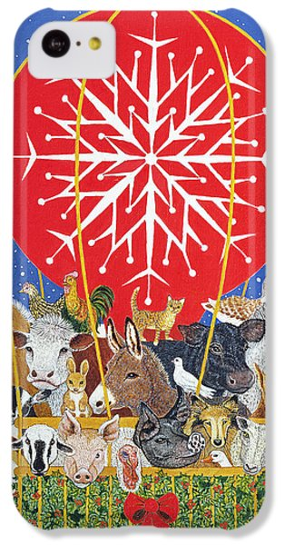 Christmas Journey Oil On Canvas IPhone 5c Case by Pat Scott