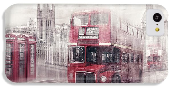 City-art London Westminster Collage II IPhone 5c Case by Melanie Viola