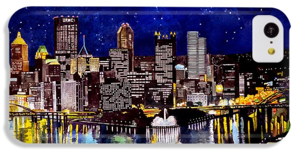 City Of Pittsburgh At The Point IPhone 5c Case by Christopher Shellhammer