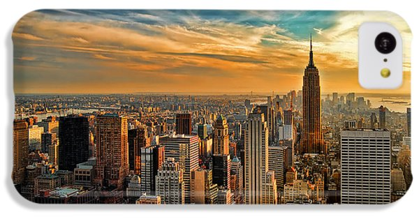 City Sunset New York City Usa IPhone 5c Case by Sabine Jacobs