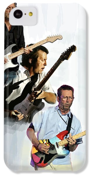 Clapton Eric Clapton IPhone 5c Case by Iconic Images Art Gallery David Pucciarelli