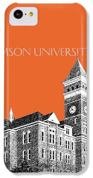Clemson University - Coral IPhone 5c Case by DB Artist