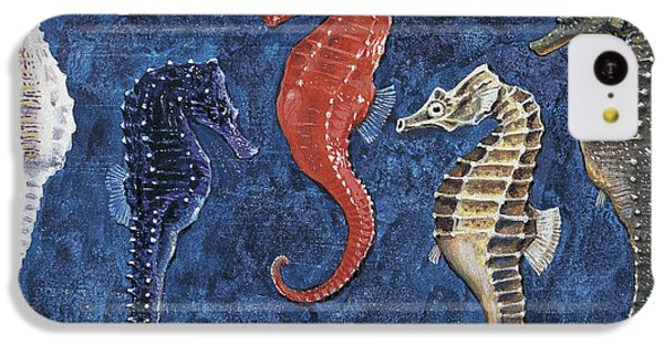 Close-up Of Five Seahorses Side By Side  IPhone 5c Case by English School
