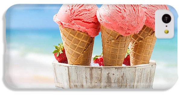 Close Up Strawberry Ice Creams IPhone 5c Case by Amanda Elwell