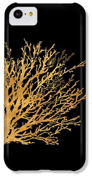 Coastal Coral On Black II IPhone 5c Case by Lanie Loreth