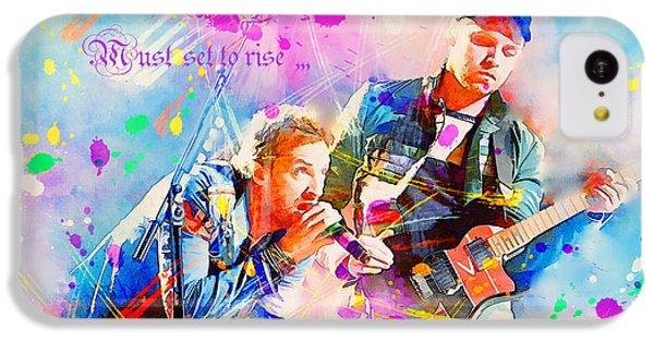 Coldplay Lyrics IPhone 5c Case by Rosalina Atanasova