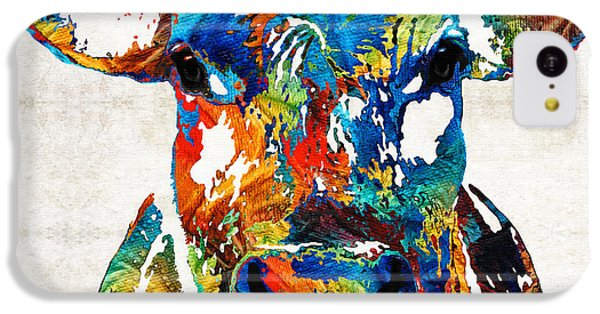 Colorful Cow Art - Mootown - By Sharon Cummings IPhone 5c Case by Sharon Cummings