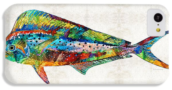 Colorful Dolphin Fish By Sharon Cummings IPhone 5c Case by Sharon Cummings