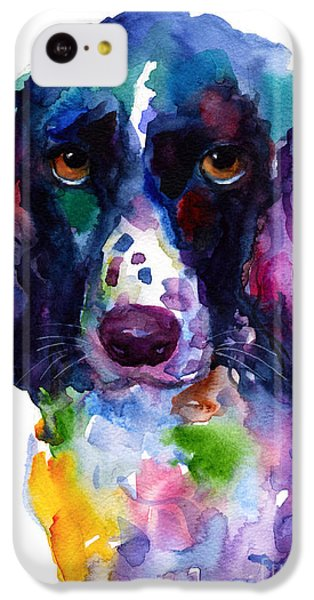 Colorful English Springer Setter Spaniel Dog Portrait Art IPhone 5c Case by Svetlana Novikova