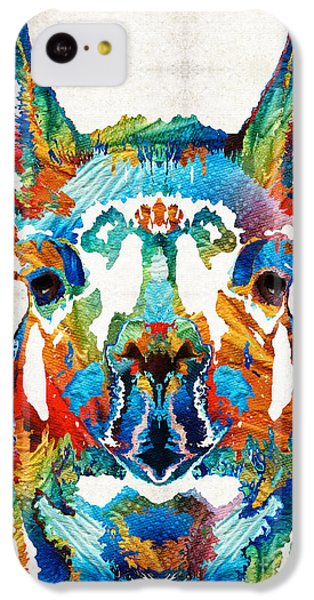 Colorful Llama Art - The Prince - By Sharon Cummings IPhone 5c Case by Sharon Cummings