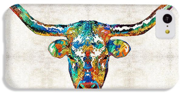 Colorful Longhorn Art By Sharon Cummings IPhone 5c Case by Sharon Cummings