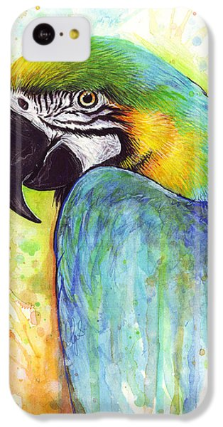 Macaw Painting IPhone 5c Case by Olga Shvartsur