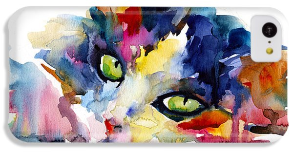 Colorful Tubby Cat Painting IPhone 5c Case by Svetlana Novikova