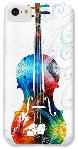 Colorful Violin Art By Sharon Cummings IPhone 5c Case by Sharon Cummings