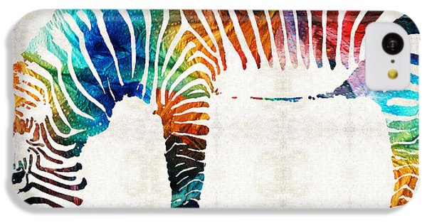 Colorful Zebra Art By Sharon Cummings IPhone 5c Case by Sharon Cummings