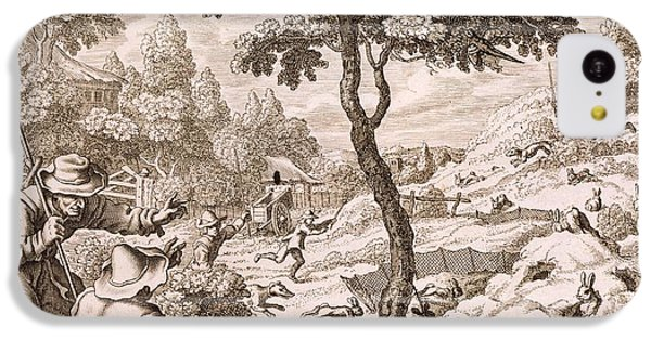 Cony Catching, Engraved By Wenceslaus IPhone 5c Case by Francis Barlow