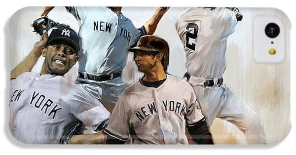 Core  Derek Jeter Mariano Rivera  Andy Pettitte Jorge Posada IPhone 5c Case by Iconic Images Art Gallery David Pucciarelli