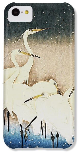 Cranes  IPhone 5c Case by Shanina Conway