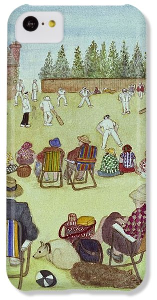 Cricket On The Green, 1987 Watercolour On Paper IPhone 5c Case by Gillian Lawson