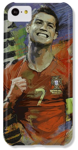 Cristiano Ronaldo - B IPhone 5c Case by Corporate Art Task Force