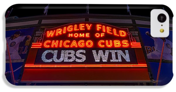 Cubs Win IPhone 5c Case by Steve Gadomski