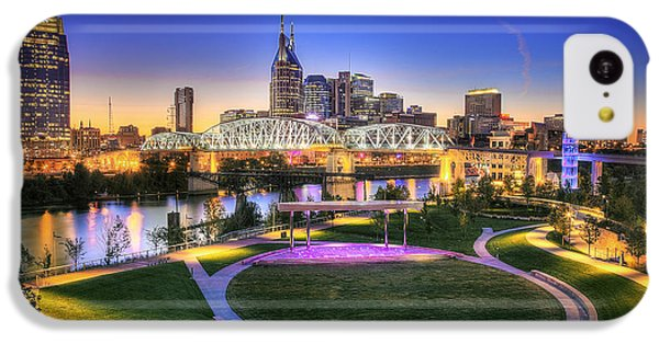 Cumberland Park And Nashville Skyline IPhone 5c Case by Lucas Foley