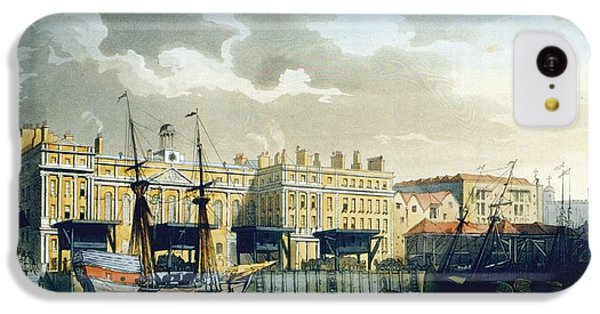 Custom House From The River Thames IPhone 5c Case by T. & Pugin, A.C. Rowlandson